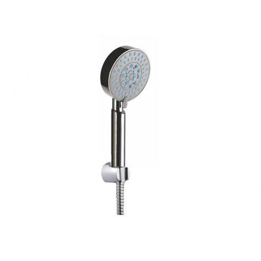 Bisk BASE 05898 króm 5 funkciós kézi zuhanyszett, 150 cm-es gégecsővel