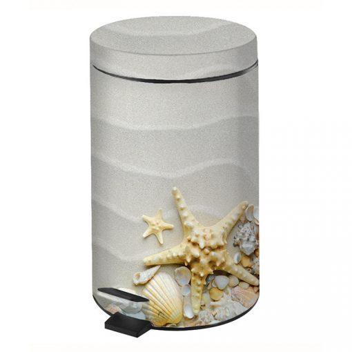 Bisk SHELLS 05952 kagyló mintás 3 literes pedálos szemetes