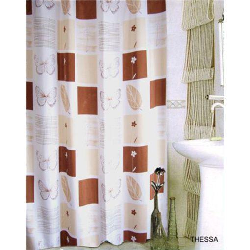 Bisk Nicesea 06050 Thessa Beige 180x200 textil zuhanyfüggöny