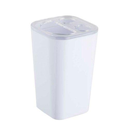 Bisk Nicesea 06349 Simple fogkefetartó pohár fehér