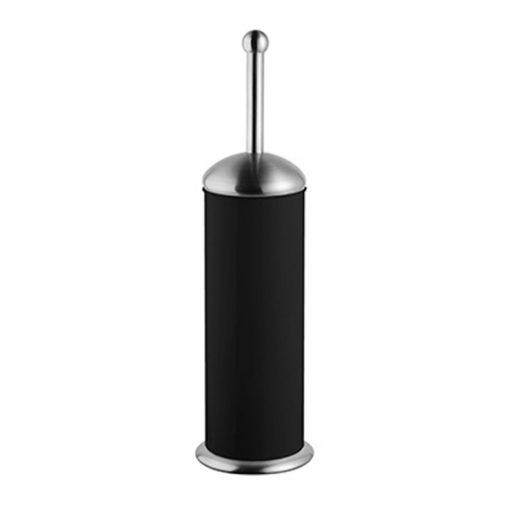 Bisk GRENADA 06630 fekete henger alakú álló rozsdamentes wc kefe tartóval