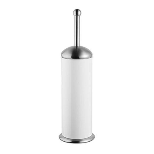 Bisk GRENADA 06631 fehér henger alakú álló rozsdamentes wc kefe tartóval