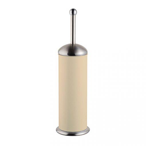 Bisk GRENADA 06632 bézs henger alakú álló rozsdamentes wc kefe tartóval