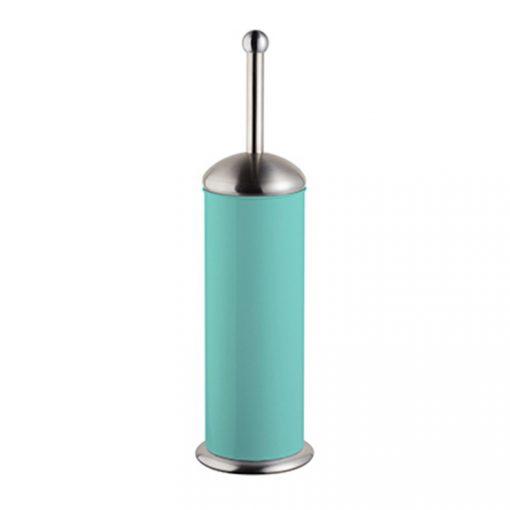 Bisk GRENADA 06633 türkiz henger alakú álló rozsdamentes wc kefe tartóval