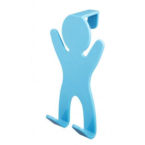 Bisk CITY 06650 kék ajtóra-kabinra akasztható kétágú fogas pp