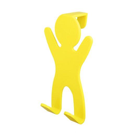 Bisk CITY 06651 sárga ajtóra-kabinra akasztható kétágú fogas pp