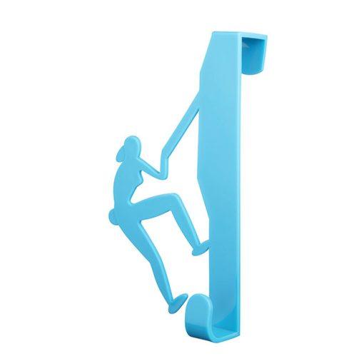 Bisk CITY 06655 kék ajtóra-kabinra akasztható hegymászós egyágú fogas pp