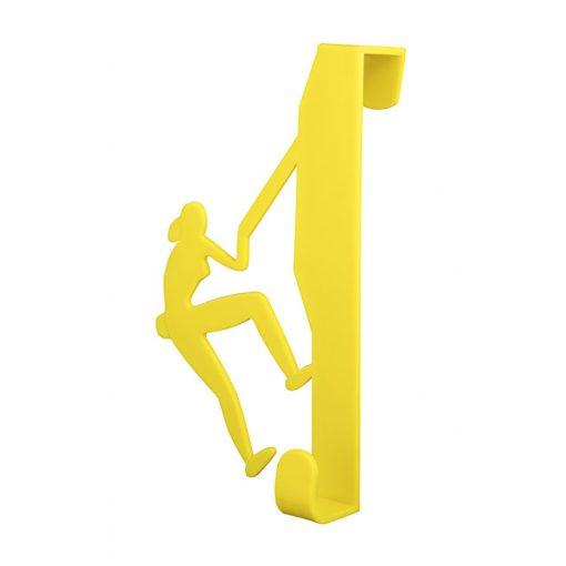 Bisk CITY 06656 sárga ajtóra-kabinra akasztható hegymászós egyágú fogas pp