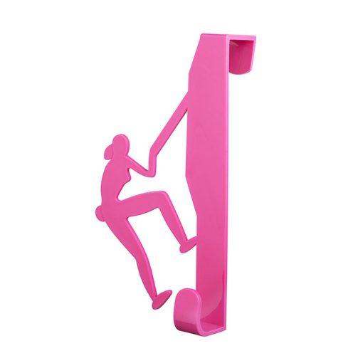 Bisk CITY 06657 rózsaszín ajtóra-kabinra akasztható hegymászós egyágú fogas pp