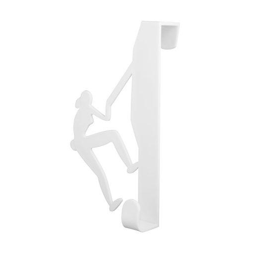Bisk CITY 06658 fehér ajtóra-kabinra akasztható hegymászós egyágú fogas pp