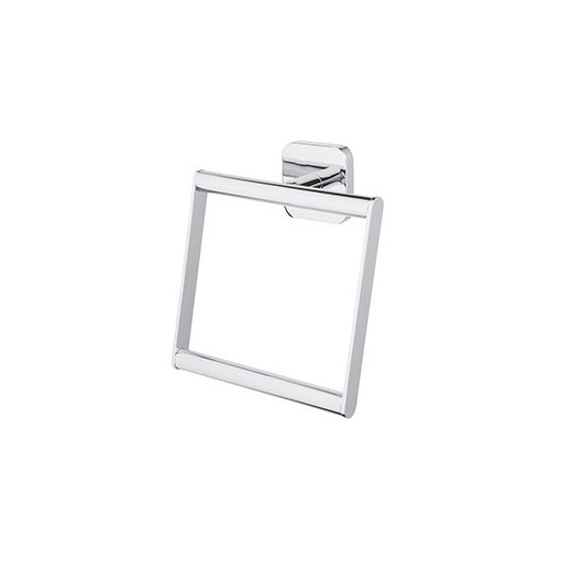 Bisk FORTE 06827 króm négyzet alakú törölközőtartó gyűrű