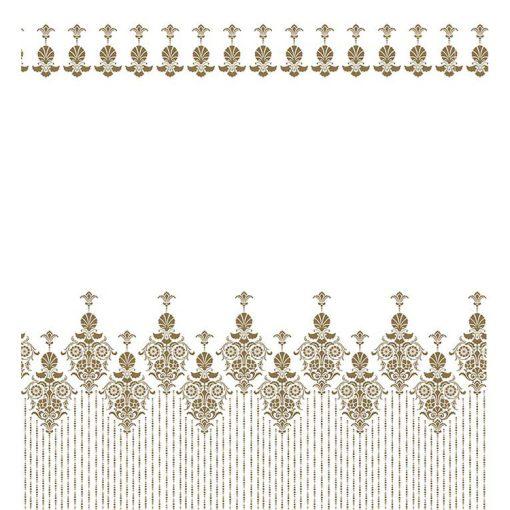 Bisk Nicesea 06871 Gold 2 Multi 180x200 textil zuhanyfüggöny karikával