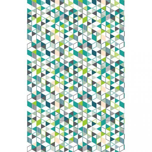 Bisk Nicesea 06878 Grenada Multi 180x200 textil zuhanyfüggöny karikával
