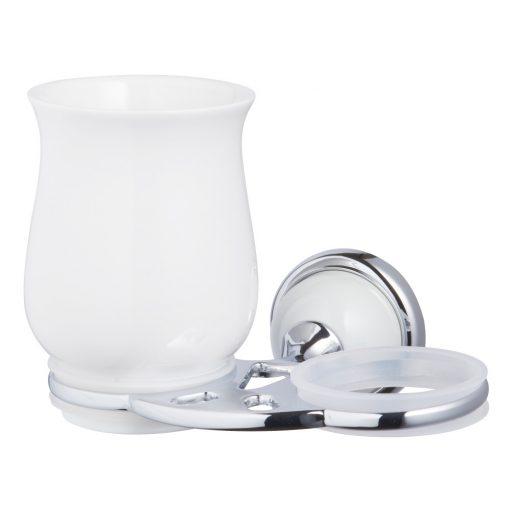 Bisk GRENADA 06899 króm dupla pohártartó üveg pohárral