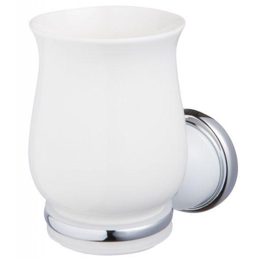 Bisk GRENADA 06904 króm pohártartó üveg pohárral