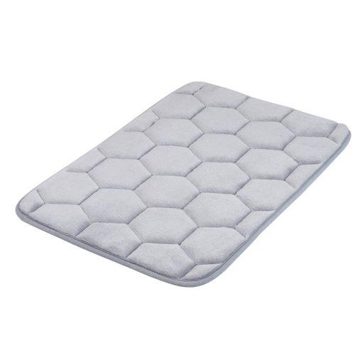 Bisk Nicesea 07054 Silk szürke 40x60 memóriahabos fürdőszobaszőnyeg