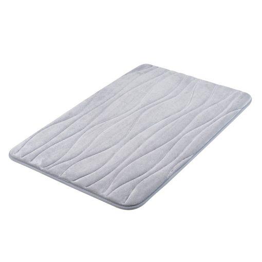 Bisk Nicesea 07057 Silk szürke 50x80 memóriahabos fürdőszobaszőnyeg