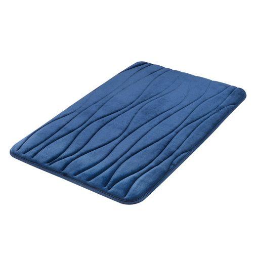 Bisk Nicesea 07083 Silk sötétkék 50x80 memóriahabos fürdőszobaszőnyeg