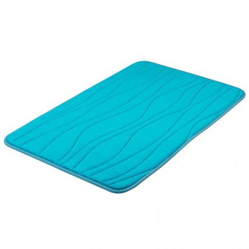 Bisk Nicesea 07182 Silk világoskék 50x80 memóriahabos fürdőszobaszőnyeg