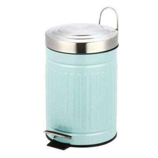 Bisk SKANDI 07520 pasztel kék 3 literes rozsdamentes acél pedálos szemetes