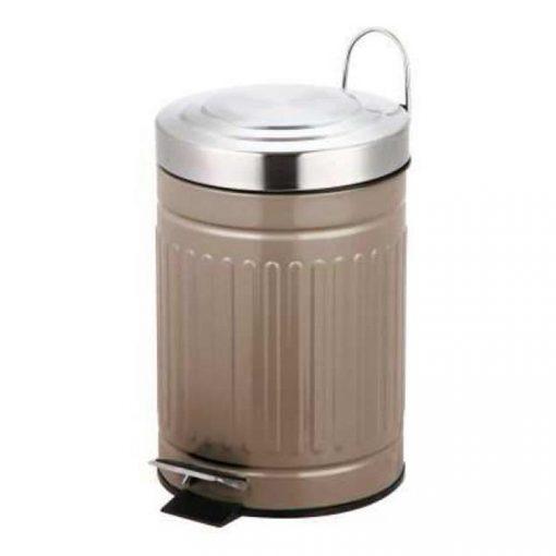 Bisk SKANDI 07521 pasztel tóp 3 literes rozsdamentes acél pedálos szemetes