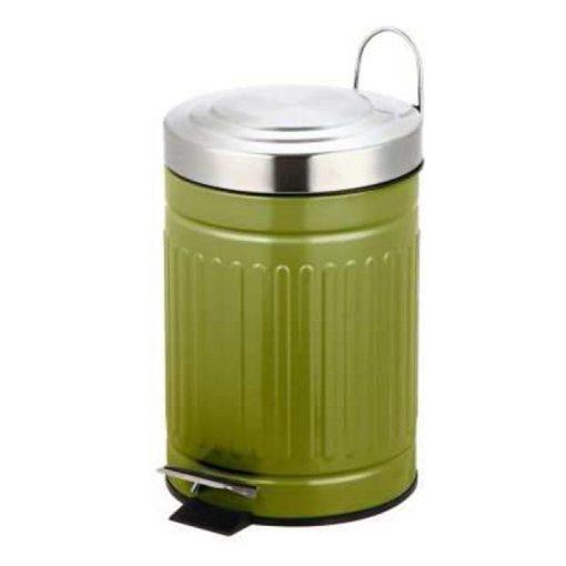Bisk SKANDI 07522 pasztel zöld 3 literes rozsdamentes acél pedálos szemetes