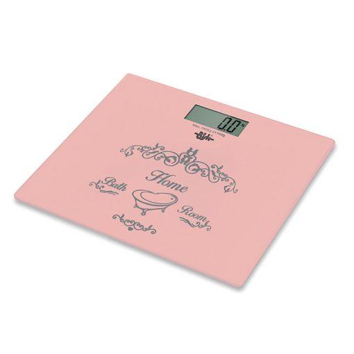 Bisk NICEA 07542 rózsakvarc színű elektromos mérleg
