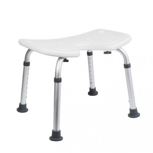 Bisk Masterline PRO 07640 négyzet alakú fürdőszobai szék higiéniai nyílással fehér