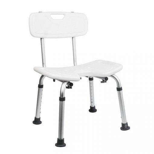 Bisk Masterline PRO 07658 háttámlás fürdőszobai szék higiéniai nyílással fehér