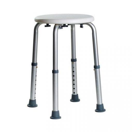 Bisk Masterline PRO 07705 kerek fürdőszobai szék fehér 348 mm-526 mm-ig állítható