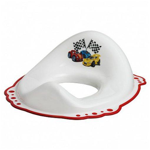 Bisk 4KIDS 07771 műanyag csúszásmentes fehér-piros autós wc ülőke, szűkítő