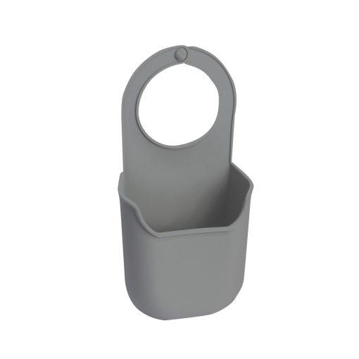 Bisk 4Kitchen 07881 szilikon csapra függeszthető szivacs tartó, szürke