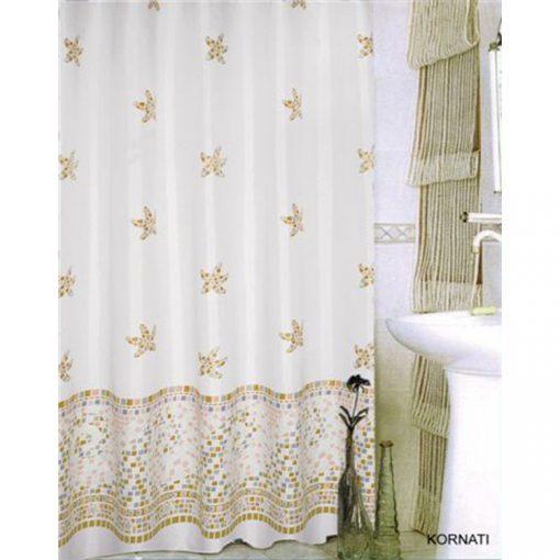 Bisk Nicesea 08012 Kornati Blue 180x200 textil zuhanyfüggöny
