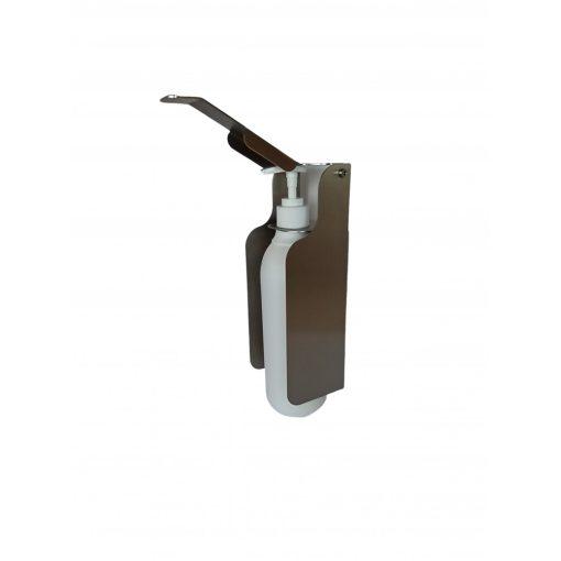 Bisk Masterline 08078 500 ml-es álló/falra szerelhető fém könyökkaros folyékonyszappan és kézfertőtlenítőszer adagoló