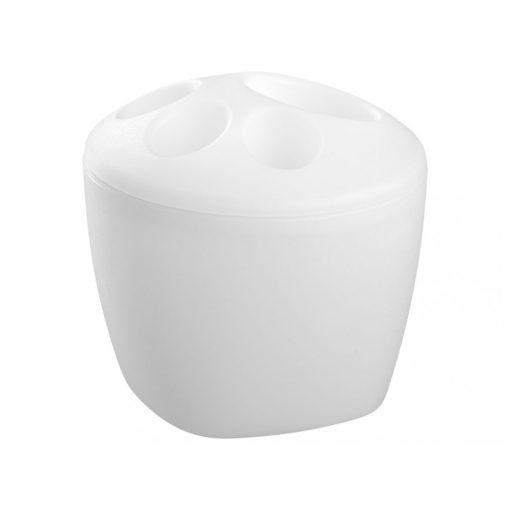 Bisk KASKADA 17402 fehér műanyag mini fogkefetartó