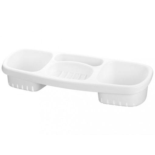 Bisk KASKADA 18302 fehér műanyag szivacs és szappantartó
