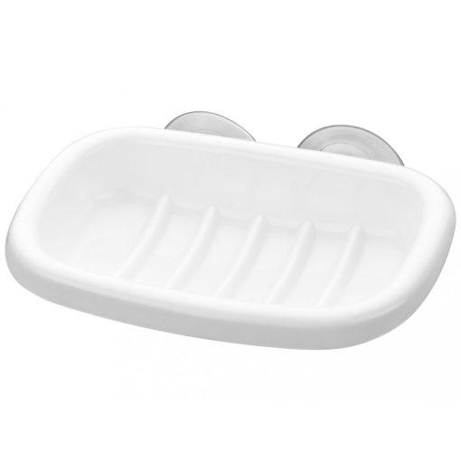 Bisk KASKADA 18502 fehér műanyag fali öntapadós szappantál