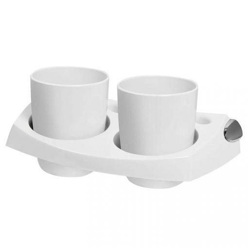 Bisk CAPRI 26702 fehér dupla pohártartó