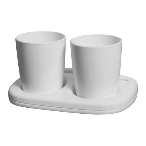 Bisk OCEANIC 47242 fehér dupla pohártartó
