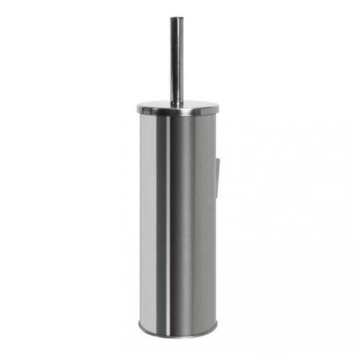 Bisk NIAGARA 71429 henger alakú fényes rozsdamentes acél fali wc kefe tartóval