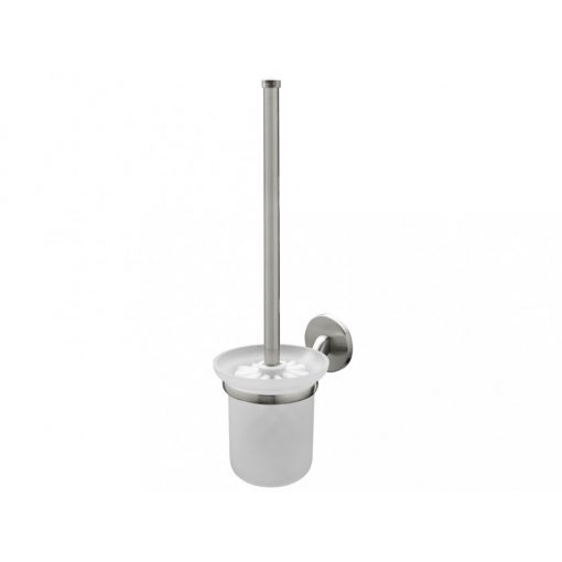 Bisk VIRGINIA 72088 mattkróm WC kefe szett üveg tartóval