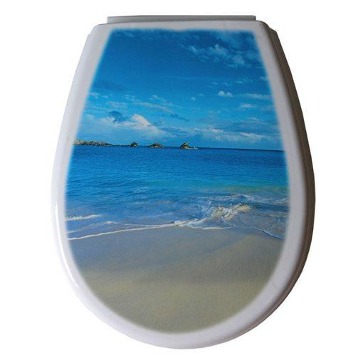 Bisk LILIA 80376 tengerpart mintás wc ülőke polypropylén