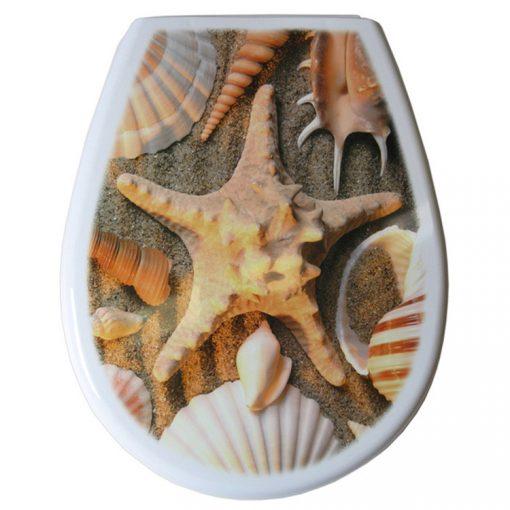 Bisk LILIA 80379 tengeri csillag mintás wc ülőke polypropylén