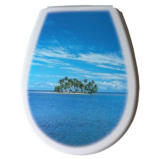 Bisk LILIA 80380 sziget mintás wc ülőke polypropylén