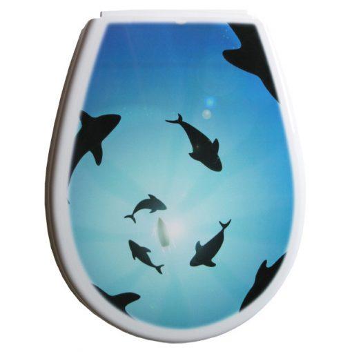 Bisk LILIA 80381 delfin mintás wc ülőke