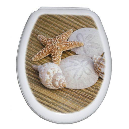 Bisk YUCCA 80676 kagyló mintás WC ülőke