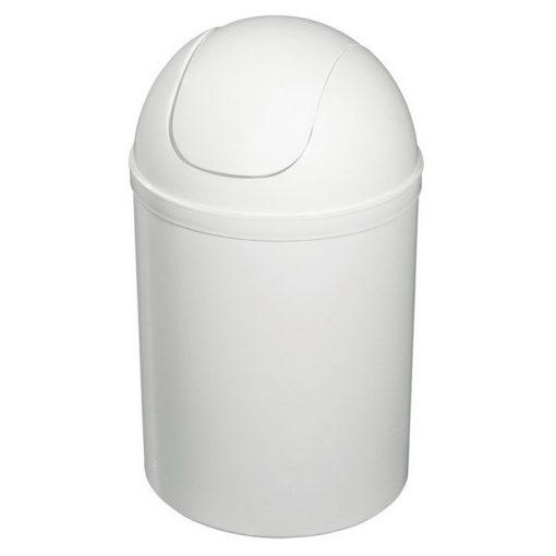 Bisk 90302 5 literes fehér billenő fedeles szemetes polipropylén