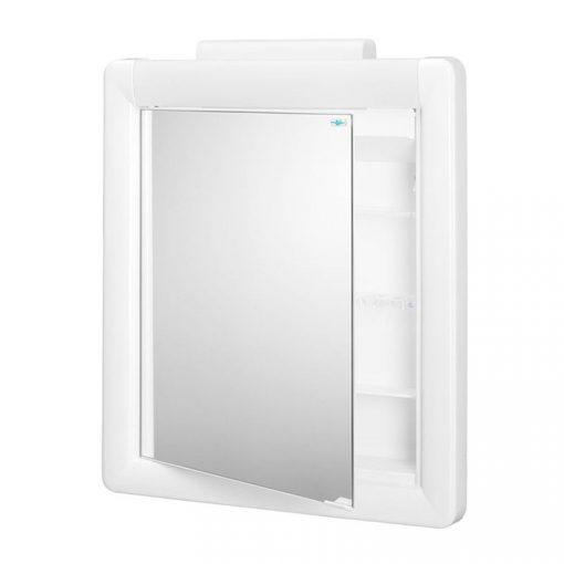 Bisk KALIPSO 91002 fehér tükrös szekrény világítással