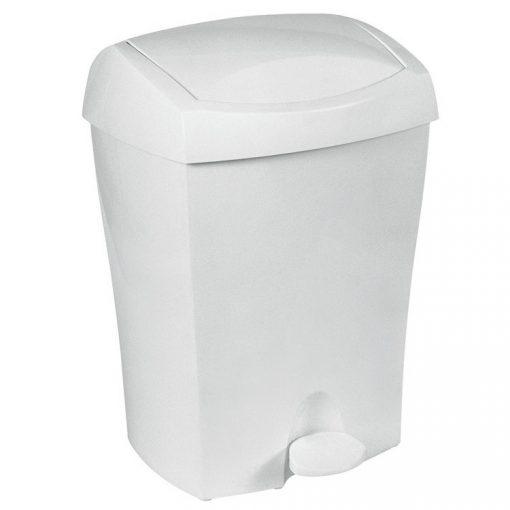 Bisk DUO 93902 fehér 8 literes pedálos szemetes polipropylén