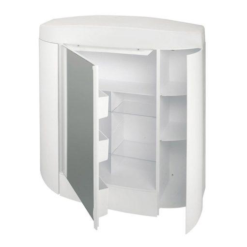 Bisk TEMIDA 94102 fehér tükrös szekrény világítással